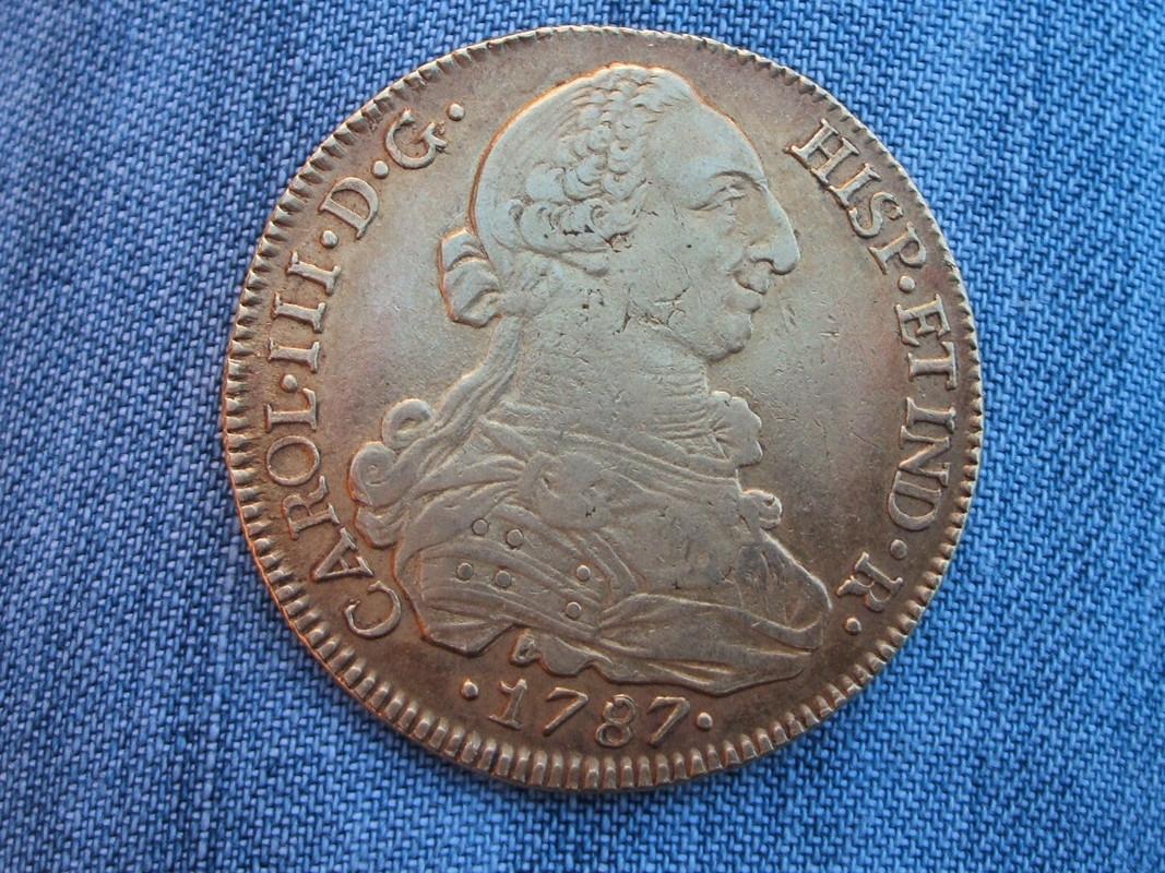 8 escudos 1787. Carlos III. Santiago. 1787_2