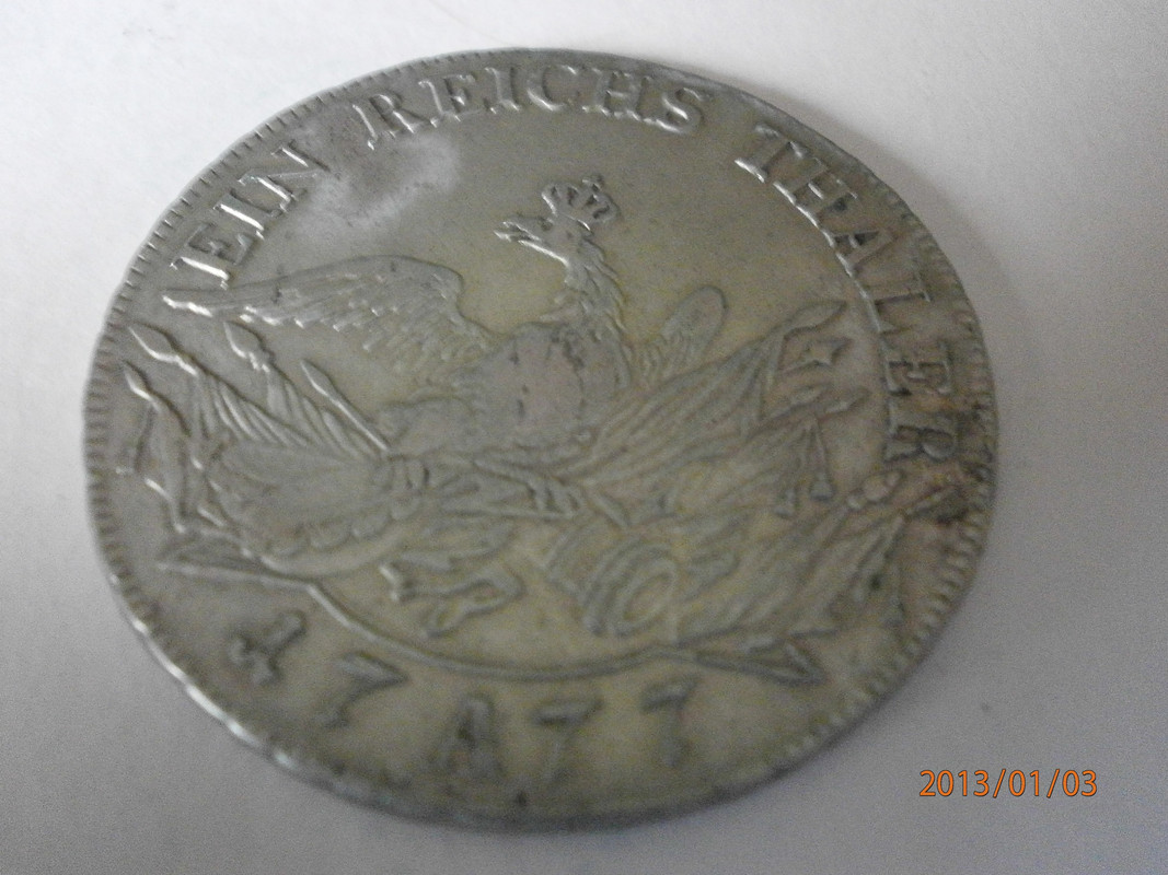 1 Thaler. Brandenburgo-Prusia, Alemania. 1777 P1030004
