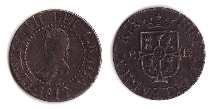 12 dineros 1812 Baleares 1201