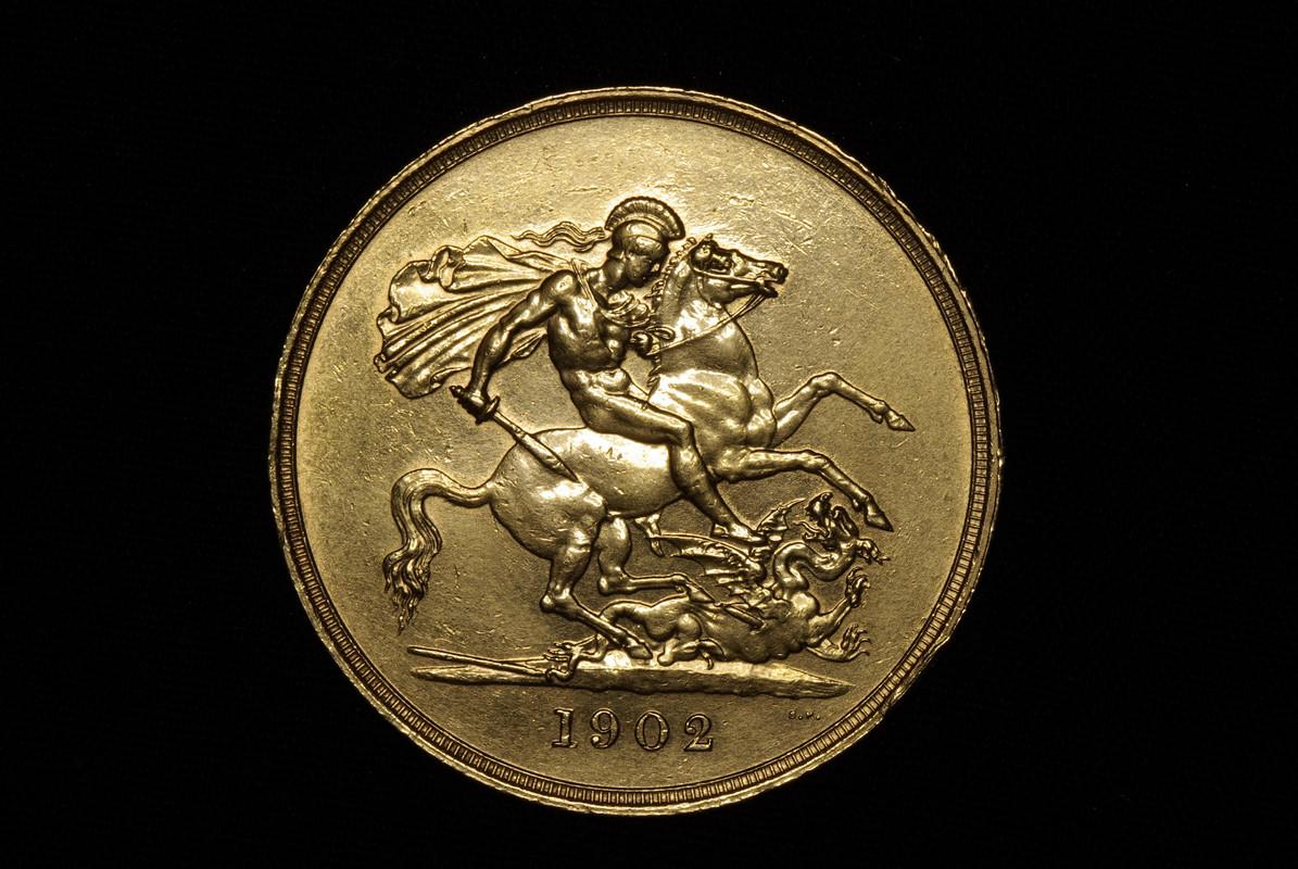 Eduardo VII Reino Unido 1902, 5 libras IGP7760