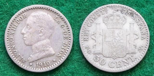 50 Céntimos 1910 (1-0). PCV. Alfonso XIII. La despedida del soldado. 100_2150