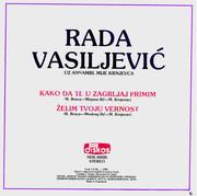 Radmila Vasiljevic Milosevic -Diskografija Zadnja