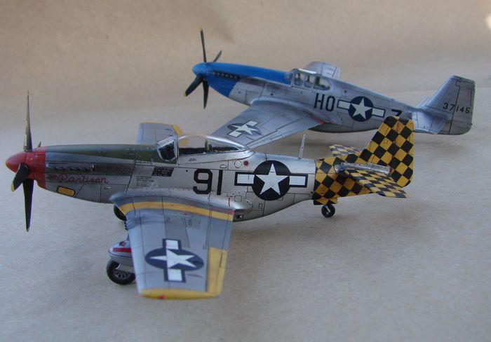 Mustang x2 P-51B Revell & P-51D Tamiya, 1/72 DSC09788