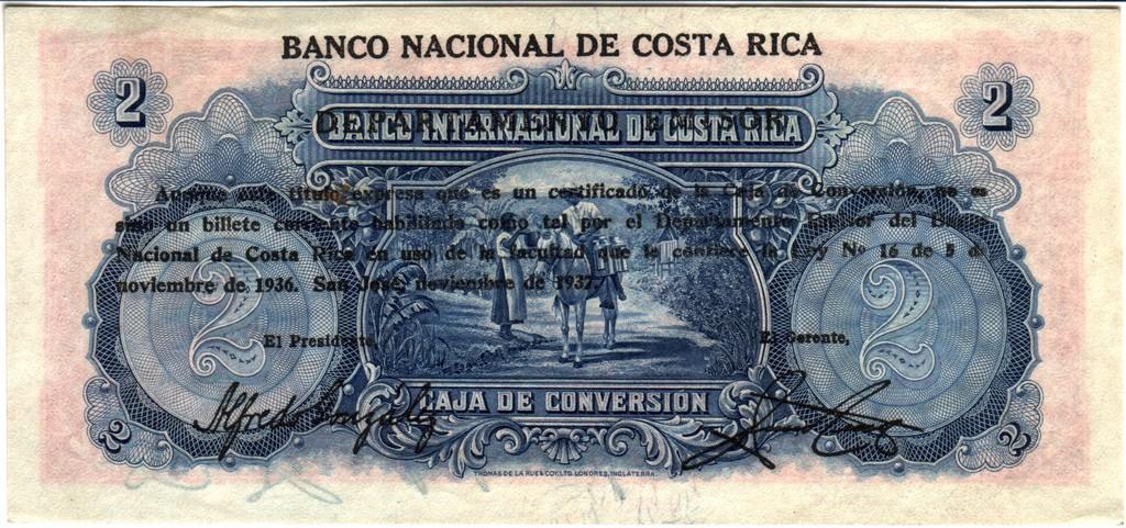 Costa Rica 2 pesos 1937 CRica2b