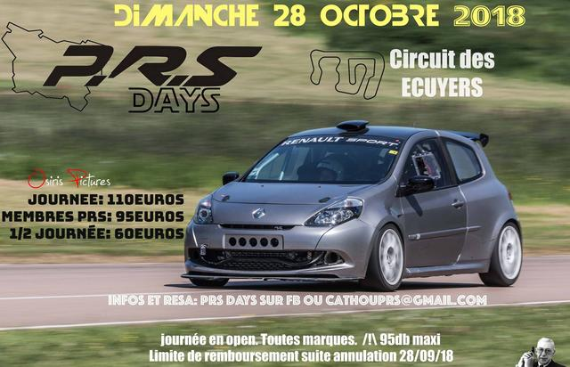 P.R.S Days 28 Octobre 2018 Ecuyers 37905987_1409774255832637_2891529484412911616_o