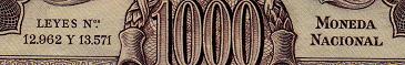 Antiguos Pesos de la Republica Argentina Leyes 12962 (Moneda Nacional) Leyenda2