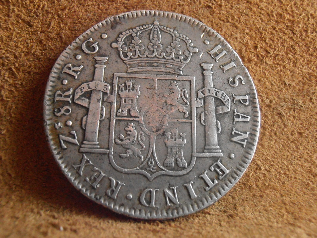1821 - 8 Reales 1821. Fernando VII.  Zacatecas P3200015