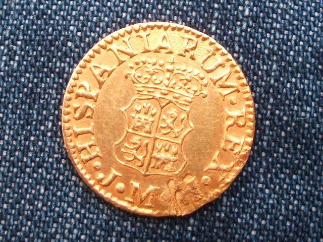 1/2 escudo 1757. Fernando VI. Madrid. ¿Reproducción de joyeria? Image
