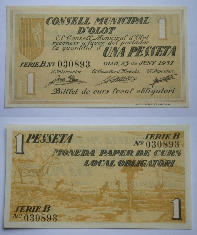 Los billetes olotenses Billete_de_Olot_1_peseta
