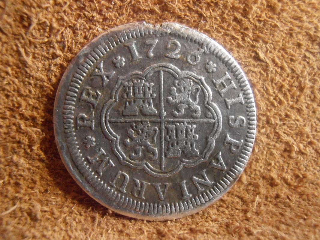 1 Real Felipe V , ceca de Segovia-1726. P3080001