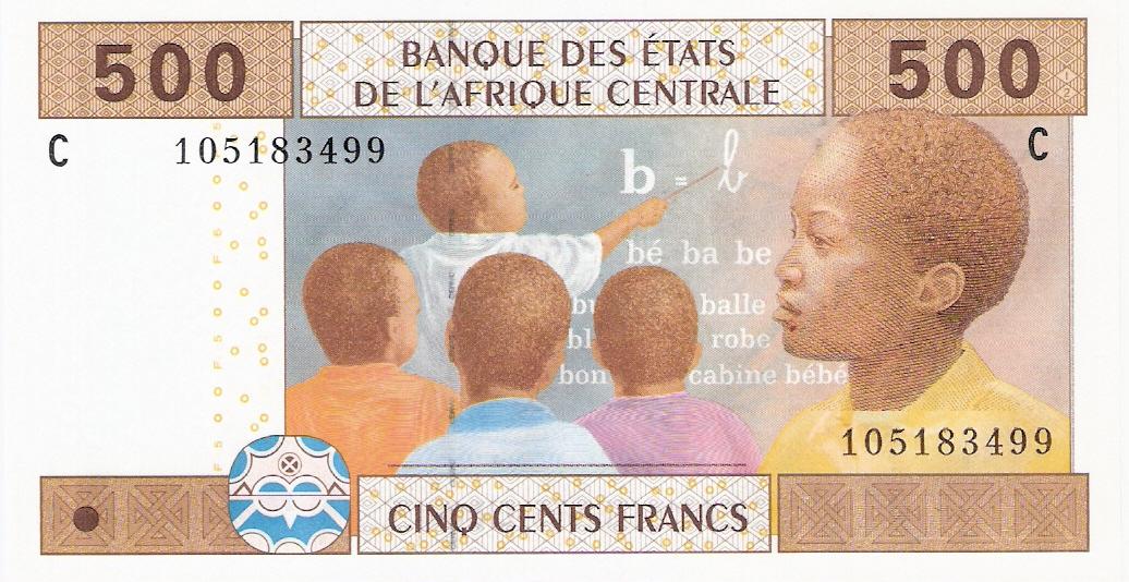 Estados del África Central 500 Francos 2002 Escanear0003