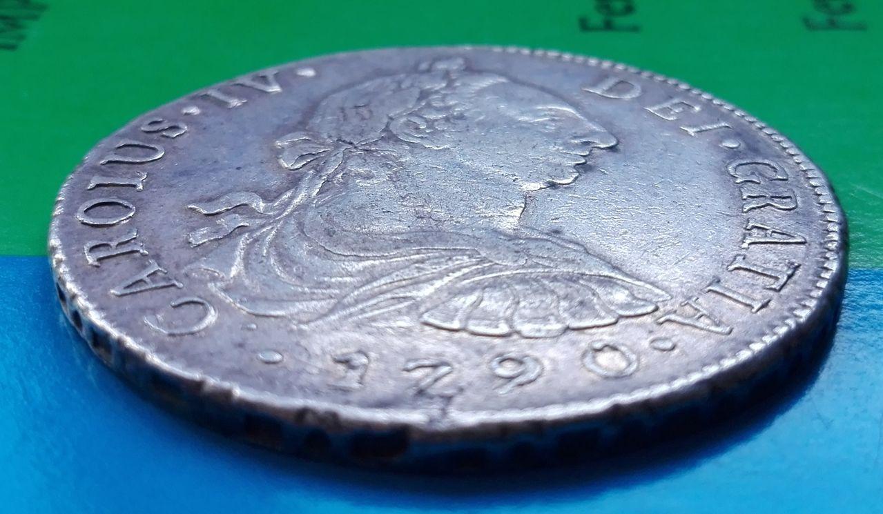 8 reales 1790 Carlos IV, Lima 8_reales_1790_lima_2