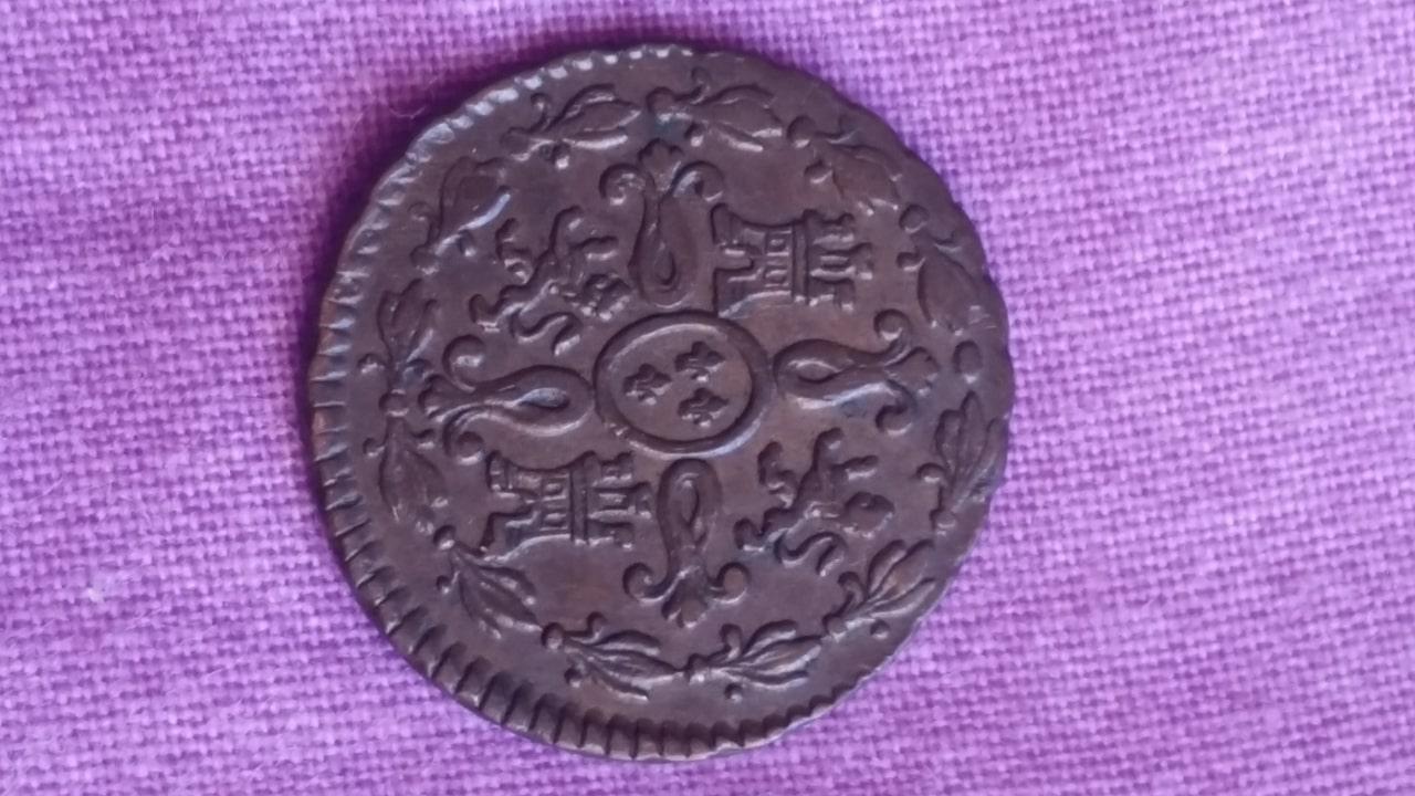 2 maravedís 1827. Fernando VII. Segovia  20160807_130548