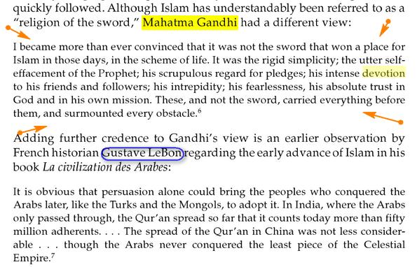 Que disent- ils sur Mahomet Ghandi_islam