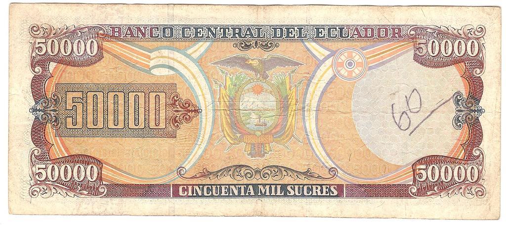 50000 Sucres Ecuador, 1997 Image