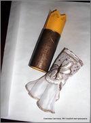 Скрапбукинг. Голубой мак, карандашница или декорваза для сухоцветов. 1_DSCF1961