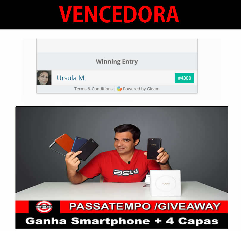 Passatempo 1001Blogs - Smartphone Nubia M2 + 4 CAPAS - 14-06-2018 -VENCEDORA - URSULA. M. FAIA! Ursula_faia