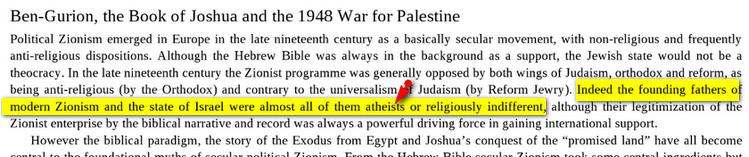 israel Fille aînée de l'athéisme Image
