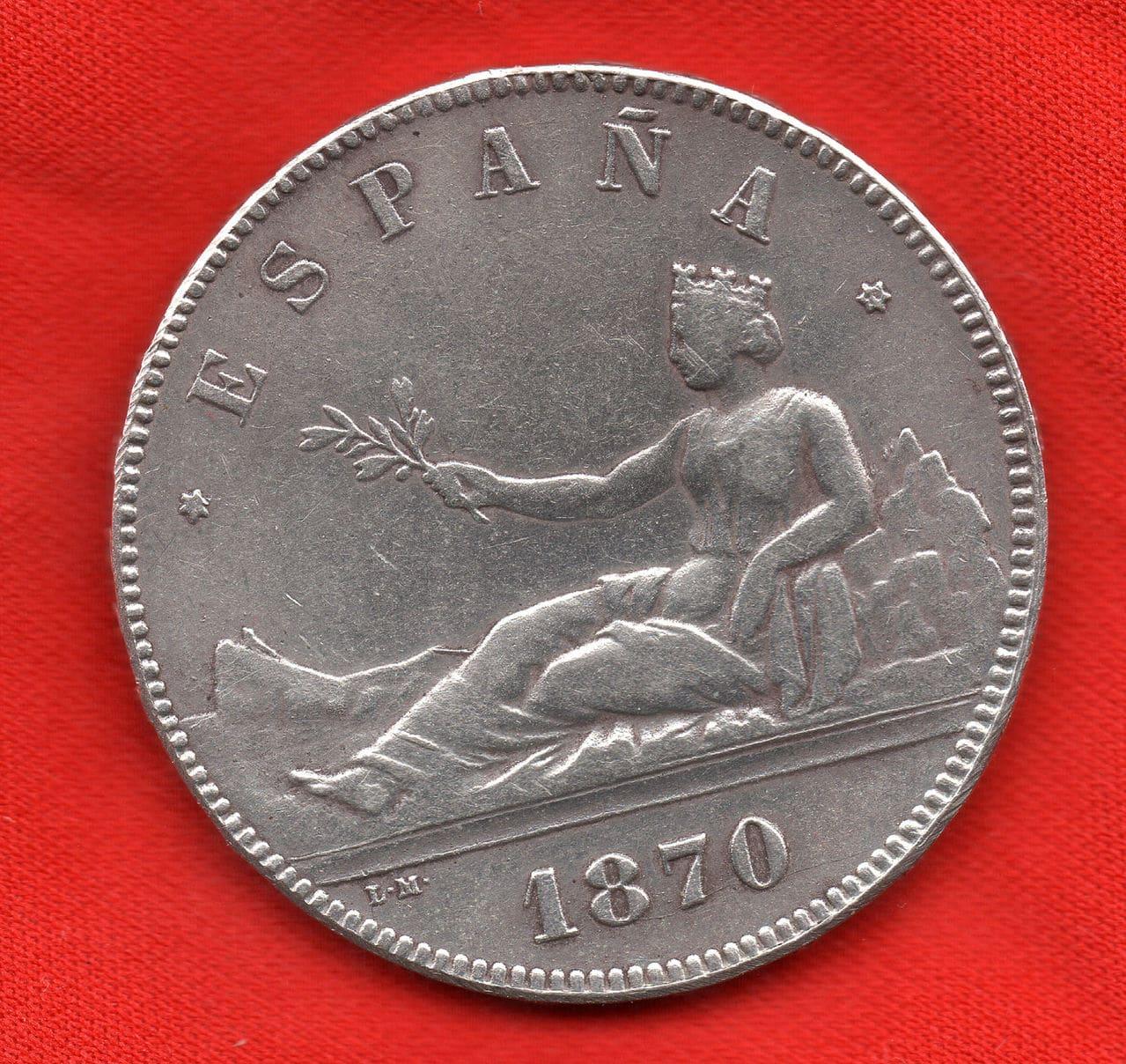 5 pesetas de 1870 Gobierno Provisional 5_1970_cara