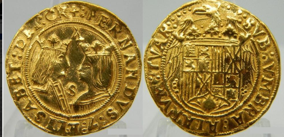 Doble excelente a Nombre de los Reyes Catolicos. Sevilla. REYES