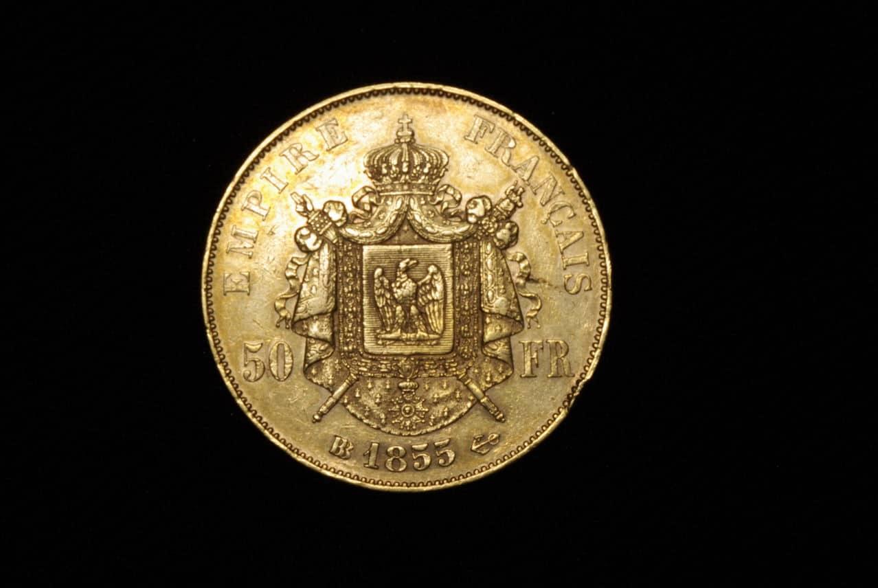 Napoleon III 50 francos 1855 Imagen_239