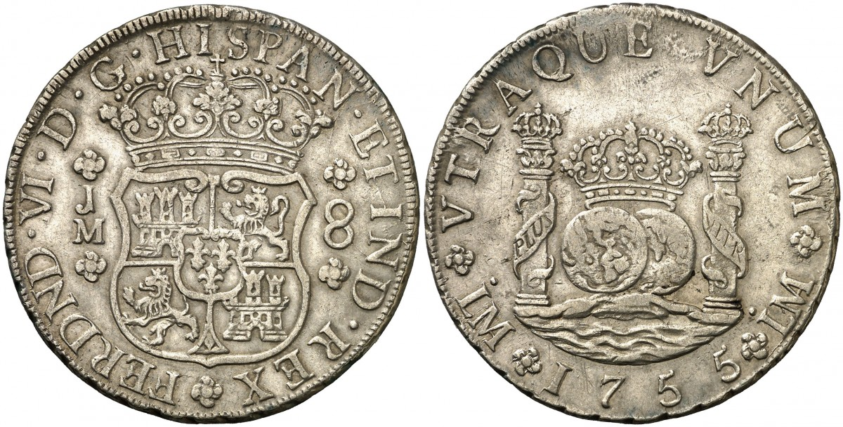 8 Reales 1755 Lima. Opiniones A2302