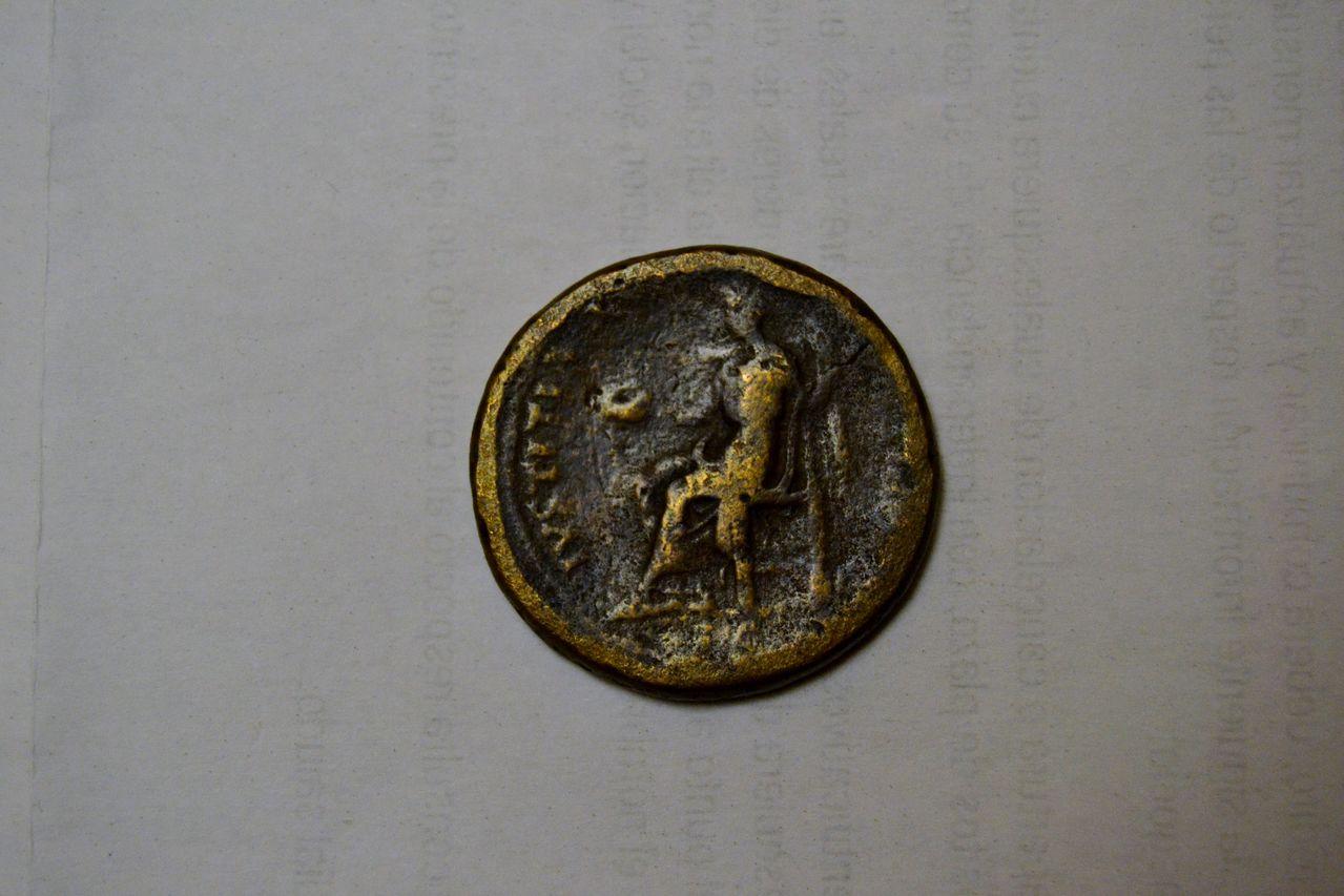 Sestercio de Adriano. IVSTITIA AVG - COS III P P - S C. Ceca Roma. DSC_0396