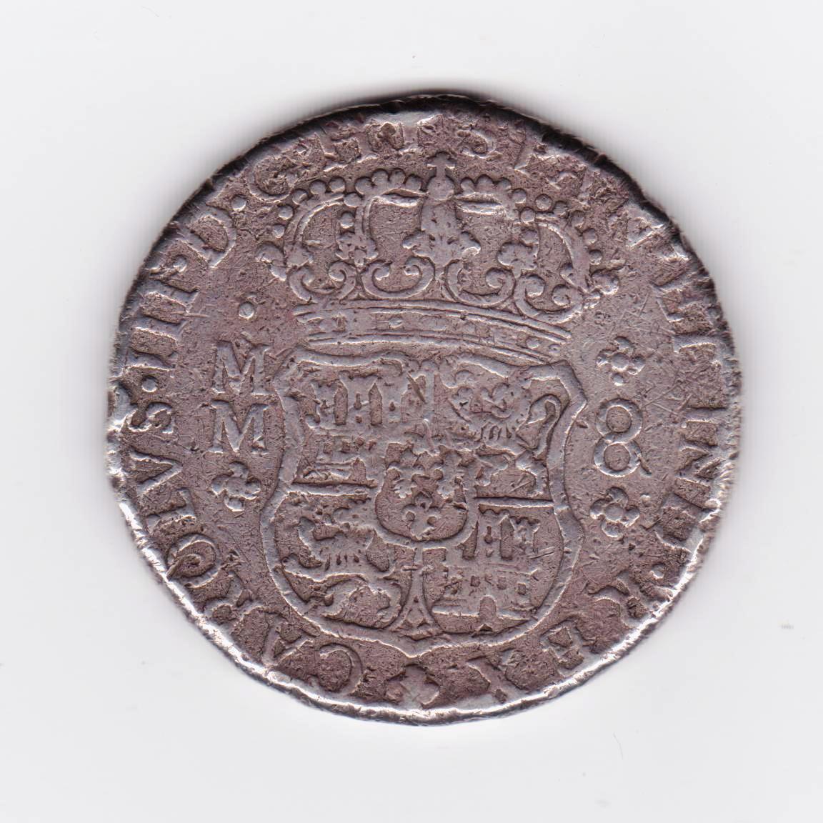 8 reales 1760. Carlos III. Méjico Columnario