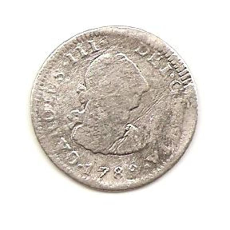 1/2 real de Carlos III 1788. Mexico Image
