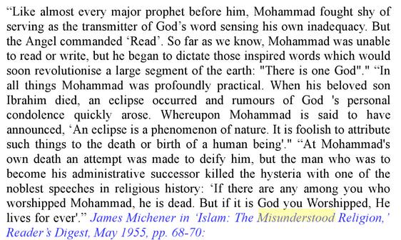 Que disent- ils sur Mahomet Alll
