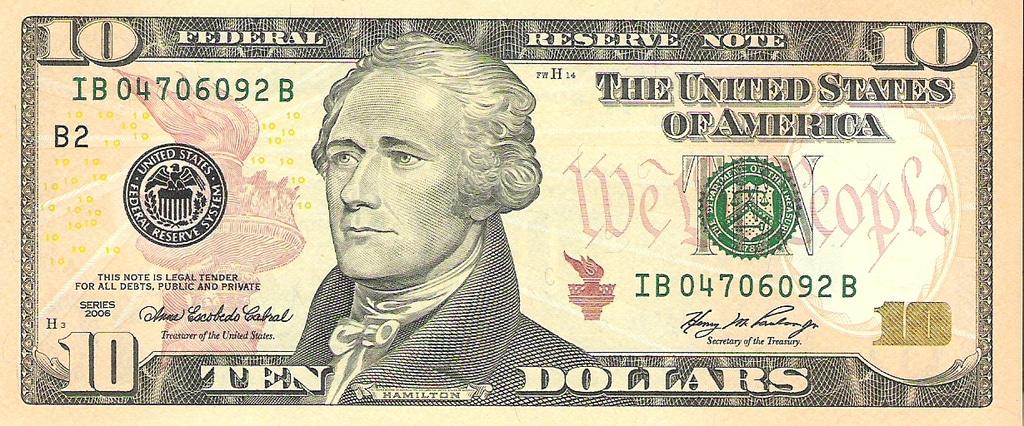 10 dolar estado unido de américa año 2006 Image