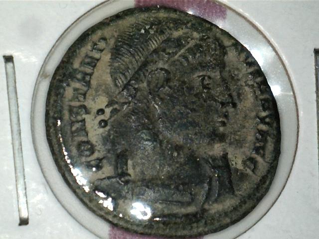 AE3 de Constantino I. GLORIA EXERCITVS. Ceca Nicomedia. Image