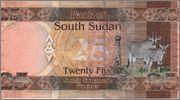 25 Pound Sudan del Sur,  2011 South_Sudan_25_pound_2011_R