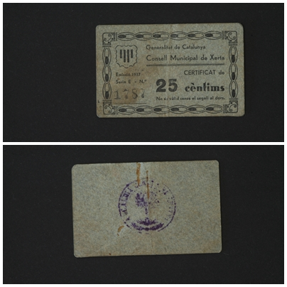 25 Céntimos Xerta, 1937 (T-2921) T_2921
