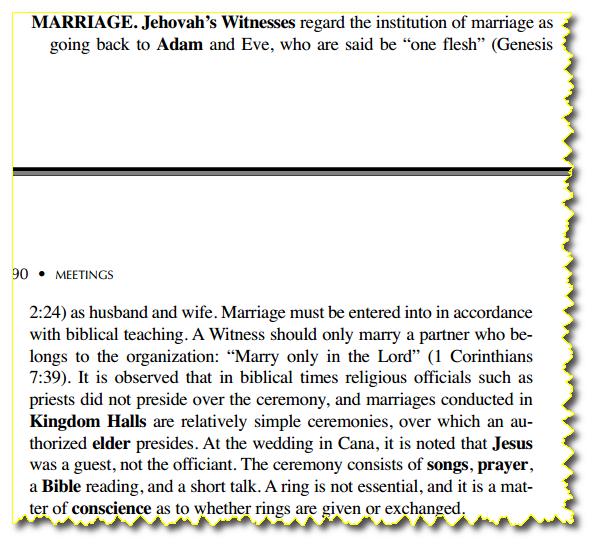 Les Absurdités du christianisme des Témoins de jéhovah Mariage_TJ