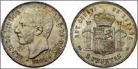 5 Pesetas. 1885*87 ALFONSO XII - MS. M- SC Image