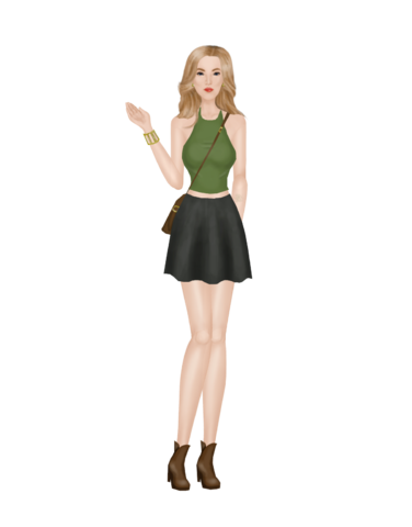 Another skirt and crop top Outfit_7