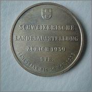 5 francos 1939 Expo Zürich ( Suiza ) Image