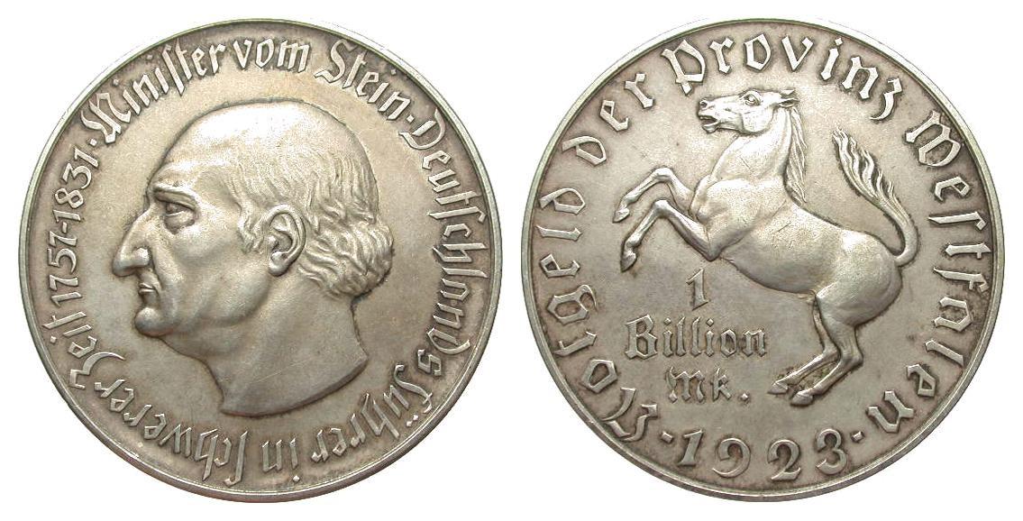 Monedas de emergencia emitidas por el banco regional de Westphalia N28