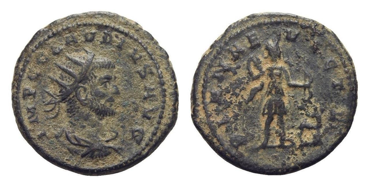 Antoniniano de Claudio II.  Claudio_ii_diana