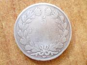 5 francos 1848 Luis Felipe I de Orleans Duda. P1440605