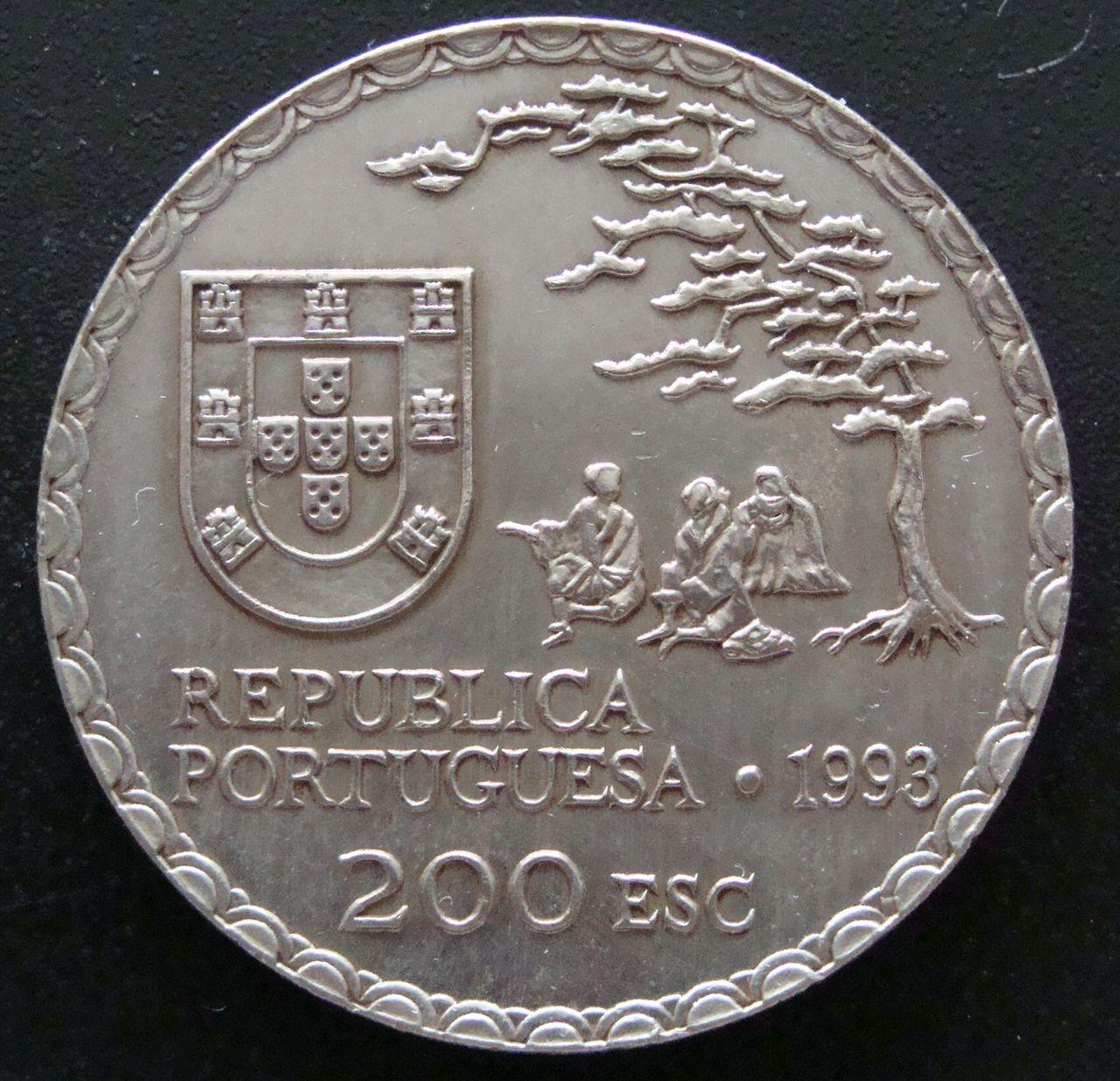 200 Escudos. Portugal (1993) Arte Namban POR_200_Escudos_arte_nambam_anv