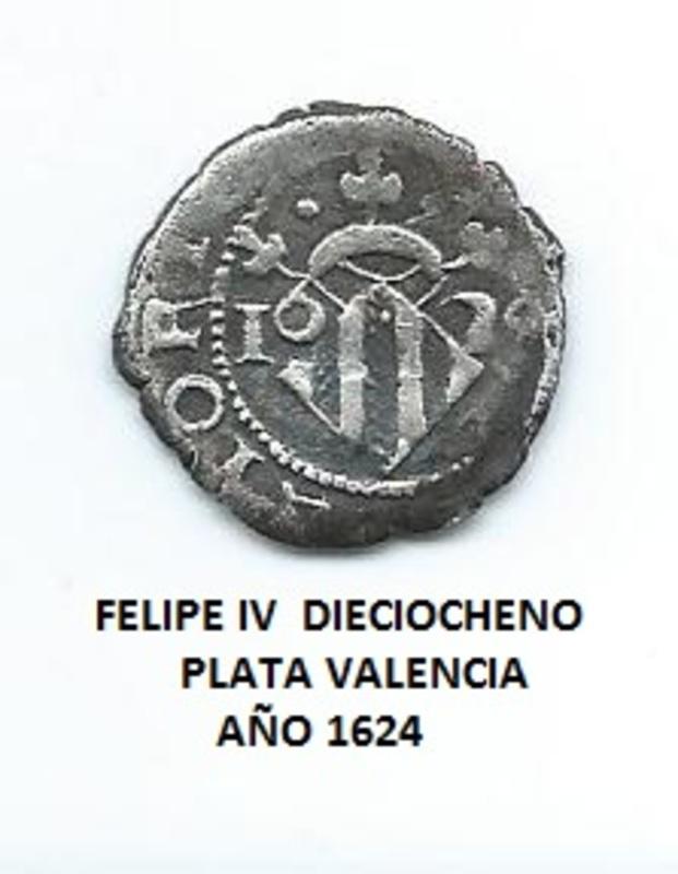 Dieciocheno Felipe IV, 1624, Valencia Image