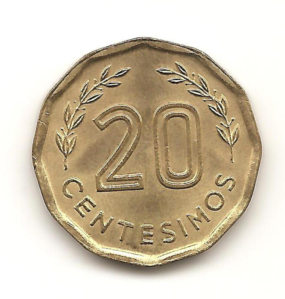 20 céntimos de Uruguay año 1981 Image