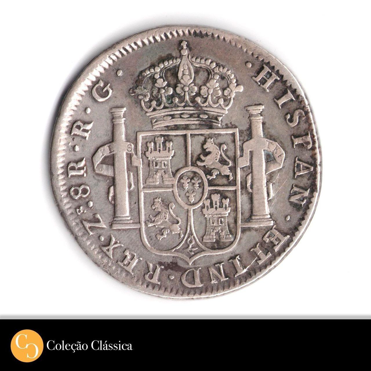 8 Reales 1821 Zacatecas. RG 57_3