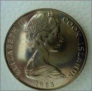 "1$ COOK ISLANDS ""TANGORA"" Dios de la creación Polynesiano Image"