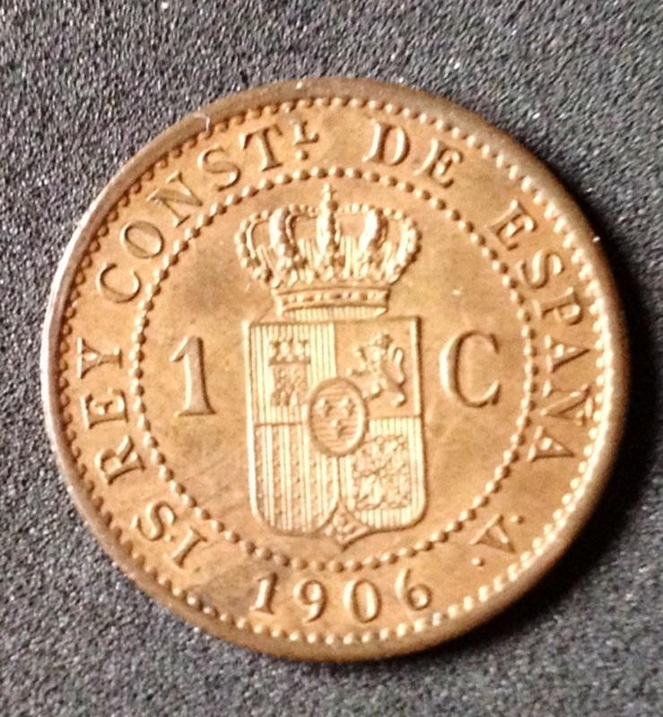 1 céntimo 1906. SL V- Alfonso XIII Image