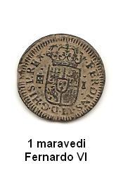 1 maravedi de Fernando VI año 1747 Image