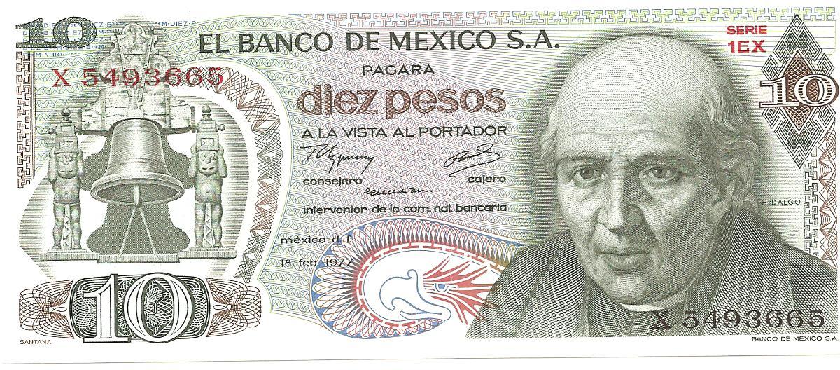 10 peso de México año 1977 Image