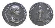 Denario de Plautilla.CONCORDIA AVGG. Concordia estante a izq. Roma IMG_2218